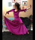 Professional velvet flamenco dress Fiona Rush in color fuchsia