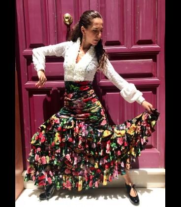 Profesional Flamenco Skirt amanecer flower