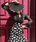 Blusa flamenca Carmen Rush negro
