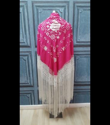 Semi- professional flamenco dancing shawl in color pink