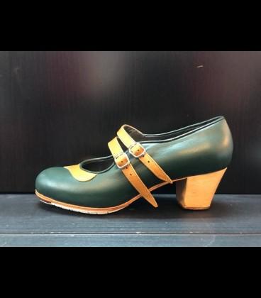 Zapatos Mercedes Gallardo Verde Oscuro