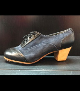 Professional flamenco shoes in dark blue/black Bolero Gallardo