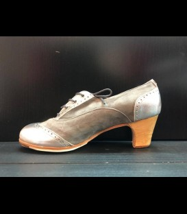 Professional flamenco shoes in silver Bolero Gallardo