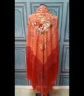 Professional flamenco dancing shawl in color light coral