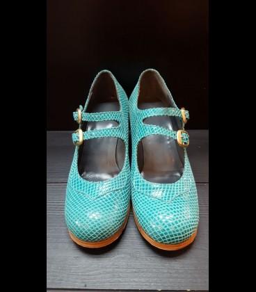Zapatos Luna Flamenca Azul Aguamarina