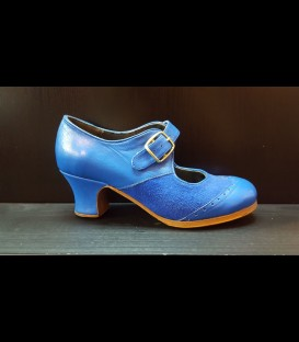 Professional flamenco shoes in blue color Luna Flamenco