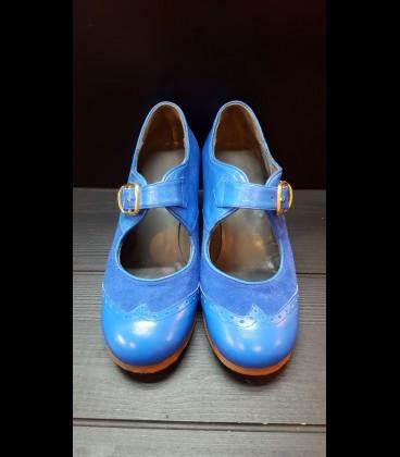 Zapatos Luna Flamenca Azules