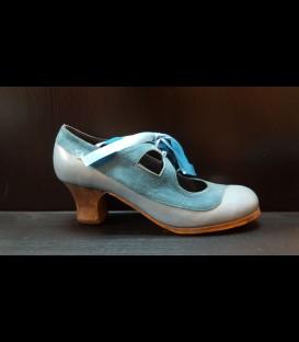 Zapatos Luna Flamenca Azul Claro