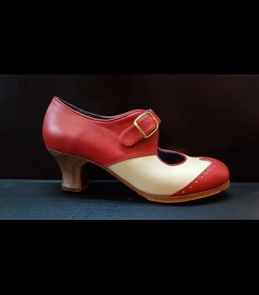 Zapatos Luna Flamenca Beige/Rojo