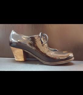 Zapatos Luna Flamenca Charol Negro