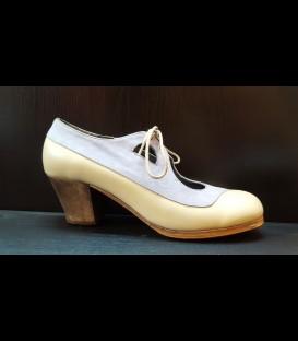 Zapatos Luna Flamenca Beige/Lavanda Claro