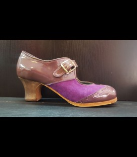 Professional Flamenco Shoes in violet color Luna Flamenca