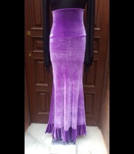 Flamenco skirt 12 1volante velvet lilac