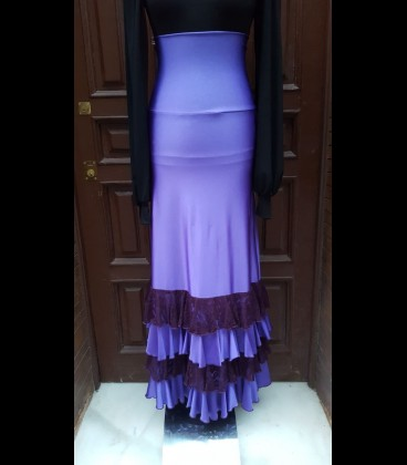 Falda Sol satén violeta