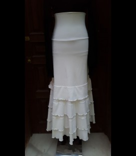 Flamenco skirt Amor white