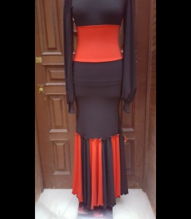 Classic flamenco skirt black/red
