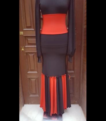 Classic flamenco skirt black/red