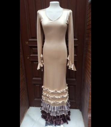 Vestido de flamenco Alegría color cava