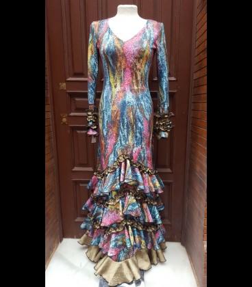 Vestido de flamenco estampado mosaica