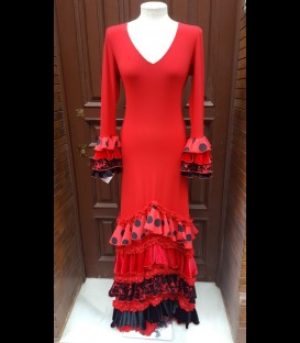 Flamenco dress Amanecer red with varied ruffles