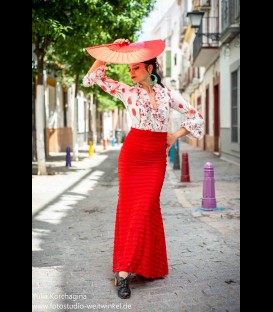 Flamenco skirt Minivolantes in red