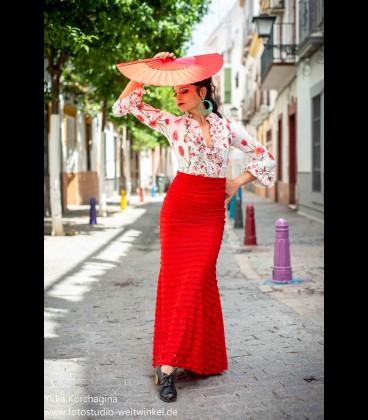Falda flamenca Minivolantes roja