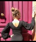 Blusa flamenca Claudia negra