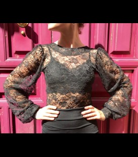 Flamenco top Claudia black lace