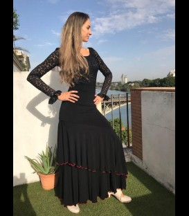 Flamenco skirt Luna Doblada in black