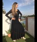 Flamenco skirt Luna Doblada in black
