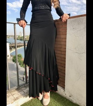Falda flamenco Luna Doblada negra