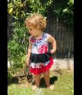 Vestido casual para niñas algodon