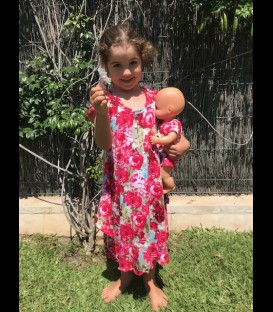 Vestido Cloe para niñas algodon rosa