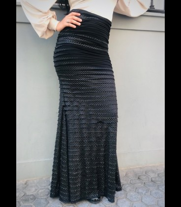 Falda flamenca Minivolantes negra