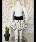 zebra skirt cotton