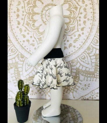 Conjunto zebra falda y top algodón