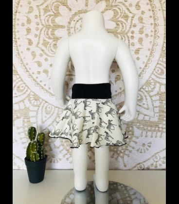 Set zebra skirt and top cotton