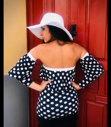 Flamenco top Rita polca dots