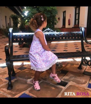 Vestido perfume para niñas algodon rosa