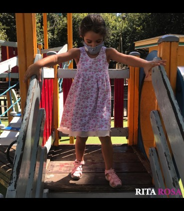 Vestido perfume para niñas algodón rosa