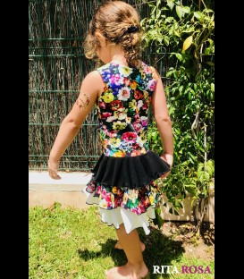 Girls Carla dress cotton flowers