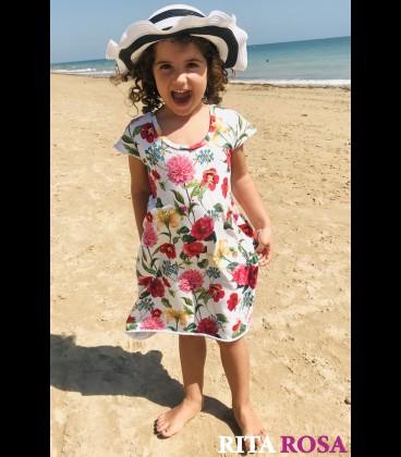 Vestido Cloe para niñas algodón rosa
