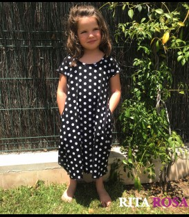 Cloe dress polka dots cotton