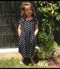Vestido Cloe para niñas algodón lunares