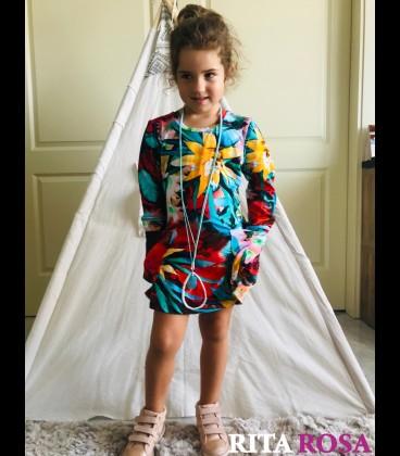 Vestido Zoe hoja para invierno