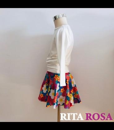 Falda zebra algodón