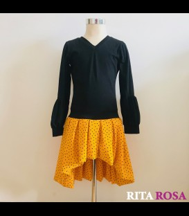 Vestido Margot negro amarillo
