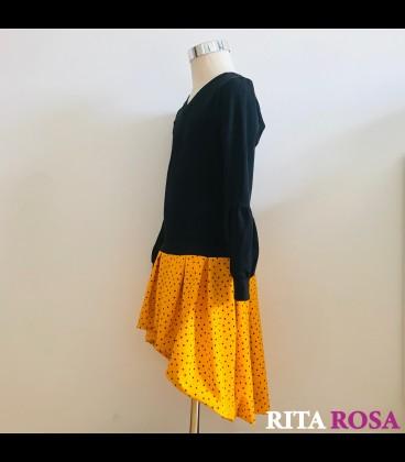 Margot black and yellow dress