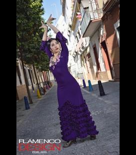 Vestido de flamenco profesional alegrias rush escote